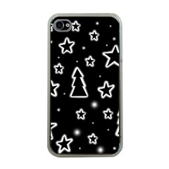 Black and white Xmas Apple iPhone 4 Case (Clear)