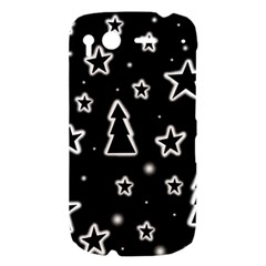 Black and white Xmas HTC Desire S Hardshell Case