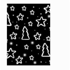 Black and white Xmas Large Garden Flag (Two Sides)