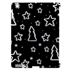 Black and white Xmas Apple iPad 3/4 Hardshell Case (Compatible with Smart Cover)