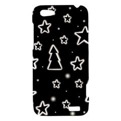 Black and white Xmas HTC One V Hardshell Case