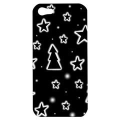 Black and white Xmas Apple iPhone 5 Hardshell Case