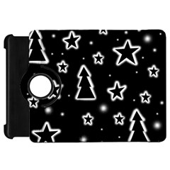 Black and white Xmas Kindle Fire HD Flip 360 Case