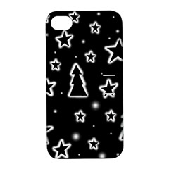 Black and white Xmas Apple iPhone 4/4S Hardshell Case with Stand