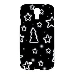 Black and white Xmas Samsung Galaxy S4 I9500/I9505 Hardshell Case
