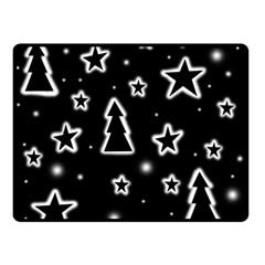 Black and white Xmas Double Sided Fleece Blanket (Small)