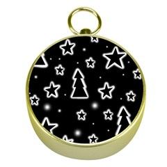 Black and white Xmas Gold Compasses