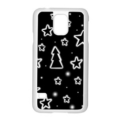 Black and white Xmas Samsung Galaxy S5 Case (White)