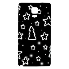Black and white Xmas Galaxy Note 4 Back Case