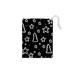 Black and white Xmas Drawstring Pouches (XS)
