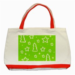 Green Christmas Classic Tote Bag (Red)