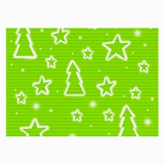 Green Christmas Large Glasses Cloth
