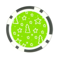 Green Christmas Poker Chip Card Guards