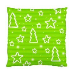 Green Christmas Standard Cushion Case (Two Sides)