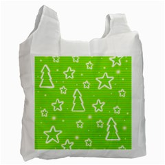 Green Christmas Recycle Bag (One Side)