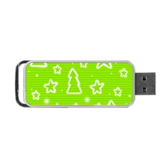 Green Christmas Portable USB Flash (Two Sides)