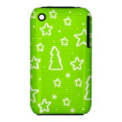 Green Christmas Apple iPhone 3G/3GS Hardshell Case (PC+Silicone)