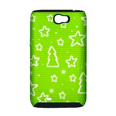 Green Christmas Samsung Galaxy Note 2 Hardshell Case (PC+Silicone)