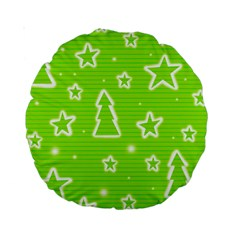 Green Christmas Standard 15  Premium Round Cushions