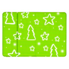 Green Christmas Samsung Galaxy Tab 8.9  P7300 Flip Case