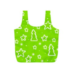 Green Christmas Full Print Recycle Bags (S)
