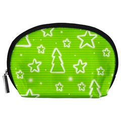 Green Christmas Accessory Pouches (Large)