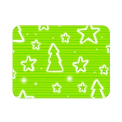 Green Christmas Double Sided Flano Blanket (Mini)