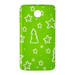 Green Christmas Nexus 6 Case (White)