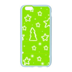 Green Christmas Apple Seamless iPhone 6/6S Case (Color)