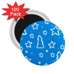 Blue decorative Xmas design 2.25  Magnets (100 pack)