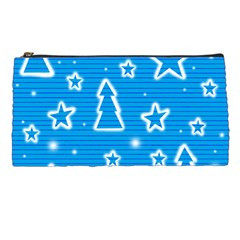 Blue decorative Xmas design Pencil Cases