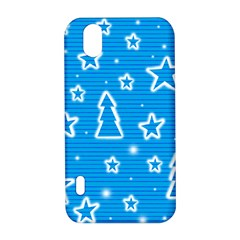 Blue decorative Xmas design LG Optimus P970