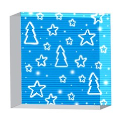 Blue decorative Xmas design 5  x 5  Acrylic Photo Blocks