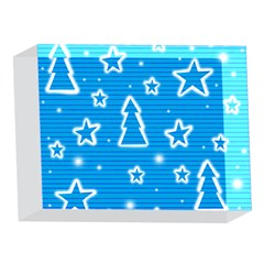 Blue decorative Xmas design 5 x 7  Acrylic Photo Blocks