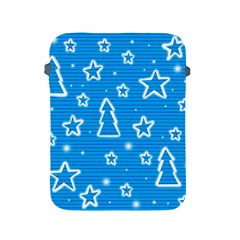 Blue decorative Xmas design Apple iPad 2/3/4 Protective Soft Cases