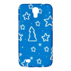 Blue decorative Xmas design Samsung Galaxy Mega 6.3  I9200 Hardshell Case