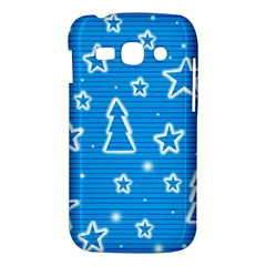 Blue decorative Xmas design Samsung Galaxy Ace 3 S7272 Hardshell Case