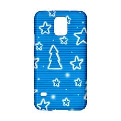 Blue decorative Xmas design Samsung Galaxy S5 Hardshell Case