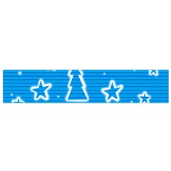 Blue decorative Xmas design Flano Scarf (Small)