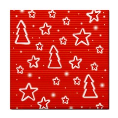 Red Xmas Tile Coasters