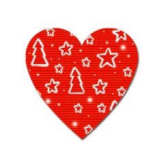 Red Xmas Heart Magnet