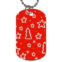 Red Xmas Dog Tag (One Side)
