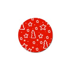 Red Xmas Golf Ball Marker (10 pack)