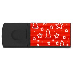 Red Xmas USB Flash Drive Rectangular (2 GB)