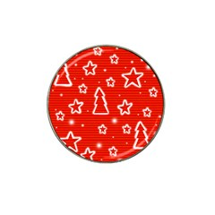 Red Xmas Hat Clip Ball Marker (4 pack)