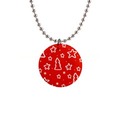 Red Xmas Button Necklaces