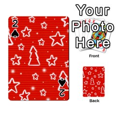 Red Xmas Playing Cards 54 Designs