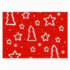 Red Xmas Large Glasses Cloth