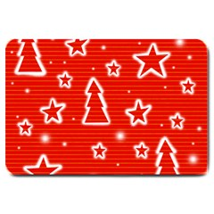 Red Xmas Large Doormat