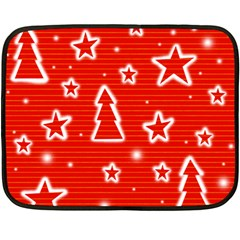 Red Xmas Fleece Blanket (Mini)